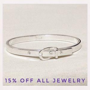 🆕 Silver Buckle Bangle Bracelet  NWT